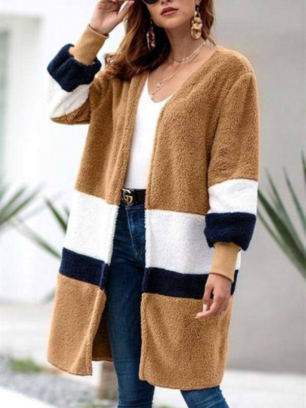 Explosion Long Cardigan Plush Coat