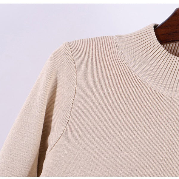 Round Neck Sweater With Fleeve Lining
