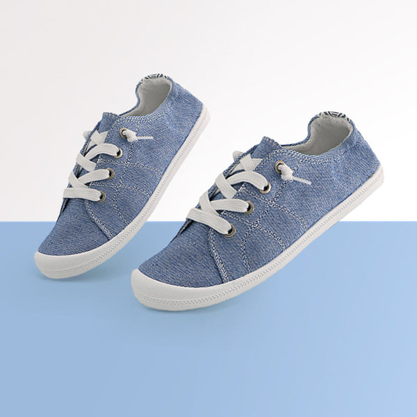 Casual Athletic Denim Canvas Lace Up Shoes