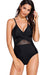 Plus Size Cut Out Mesh Natural Fit Swimwear
