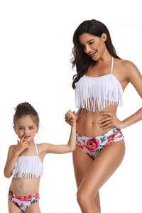 Tassel shape Mom & Daughter Swimsuit - Bouche