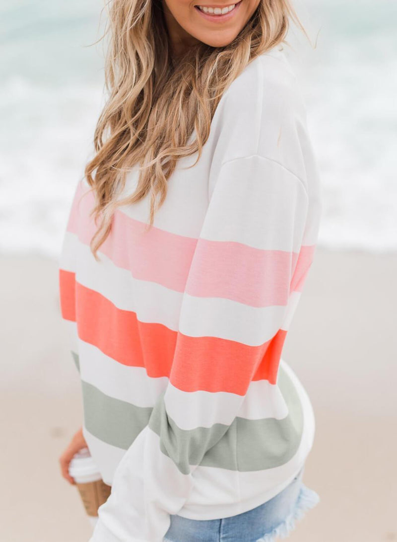 Striped Pullover Top