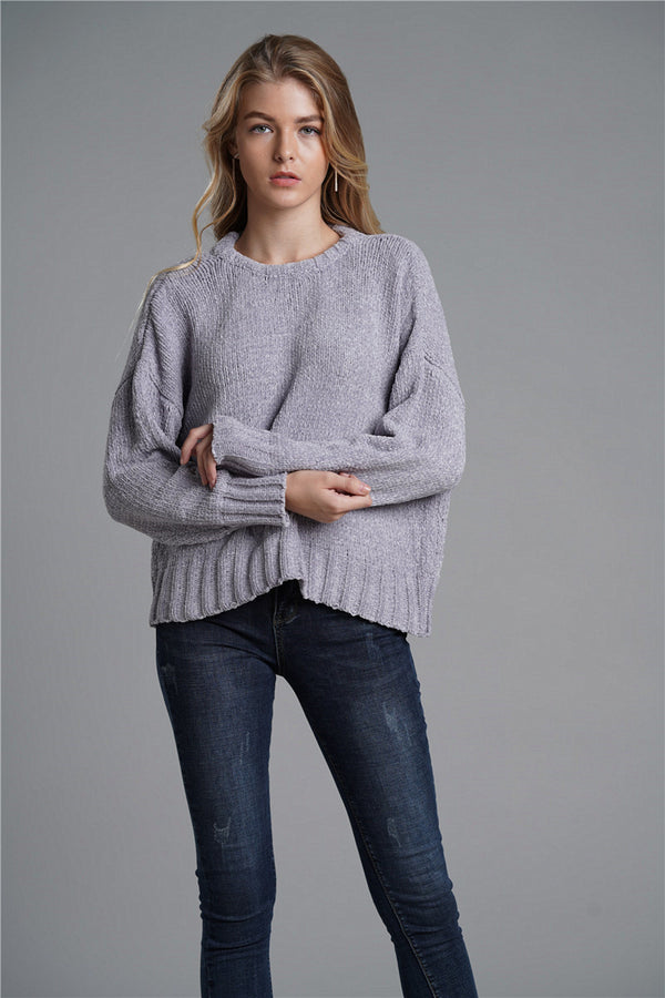 Open Back Bat Sleeve Commuter Sweater