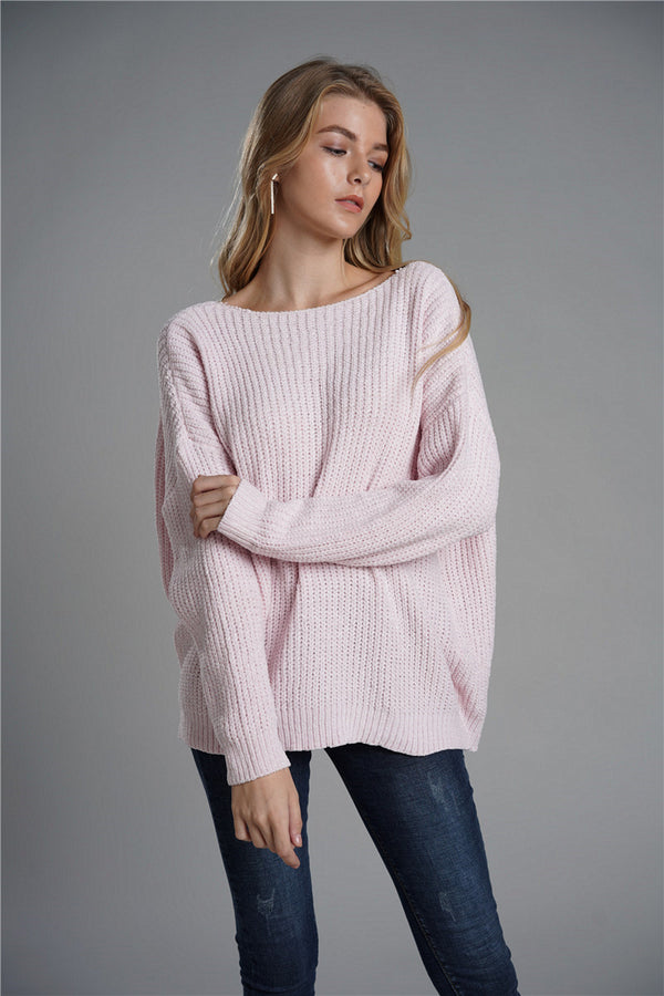Strap Loose Large Size Two-sided Stitching Sweater