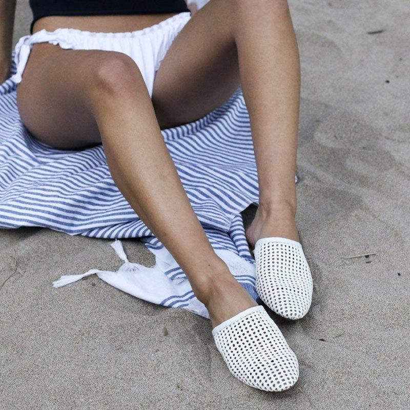 Women Hollow-out Flat Sandals Plus Size Slip-On Slippers