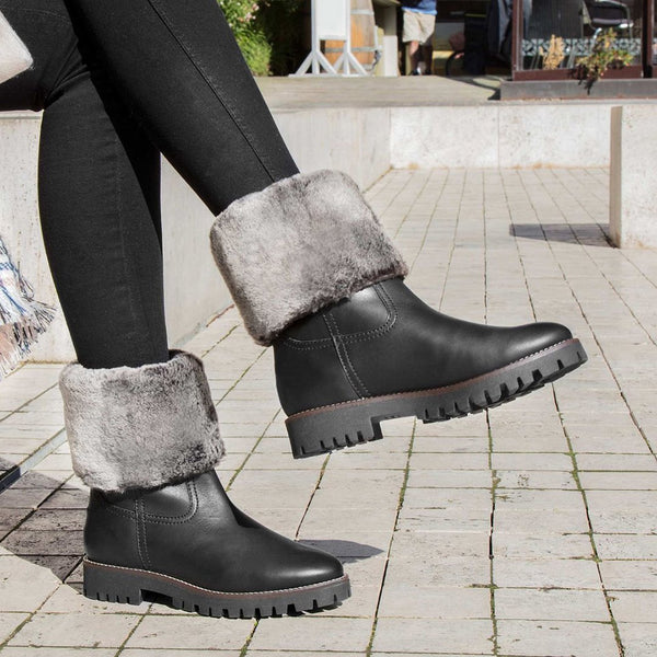 Womens Warm Artificial Leather Snow Boots