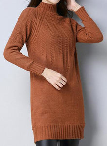 Thick Knit Plush Long Sweater