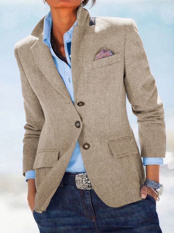 Solid Pockets Blazer