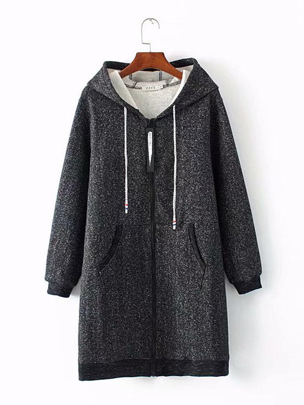Plus Size XL-3XL Warm Lined Casual Coats