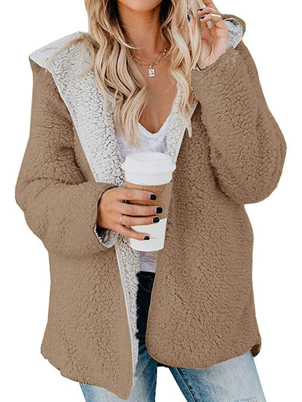 Long Sleeve Vintage Hoodie Shift Outerwear
