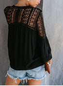 CROCHET BLOUSE - BLACK