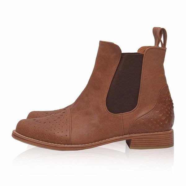 Womens Hollow Out Daily All Season Chunky Heel Ankle Boots