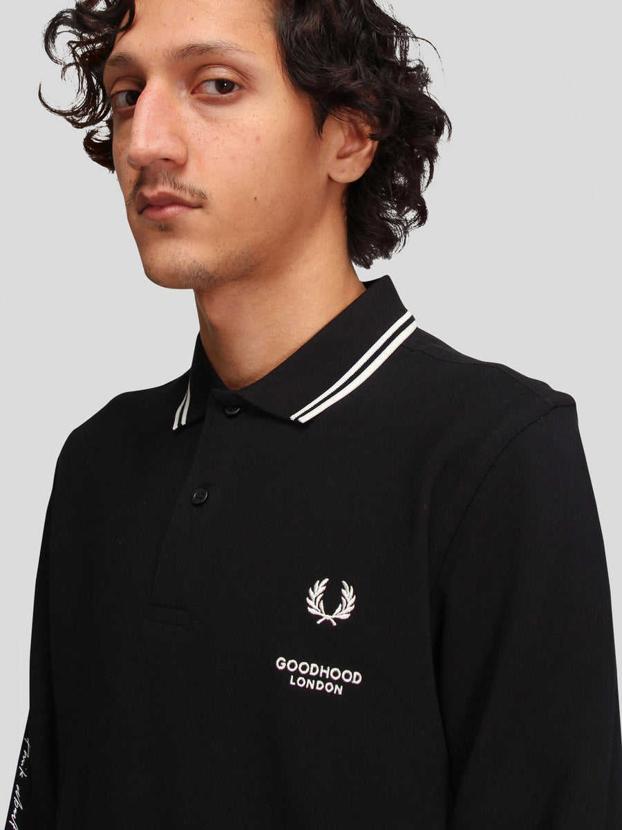 Goodhood Printed LS Polo Shirt