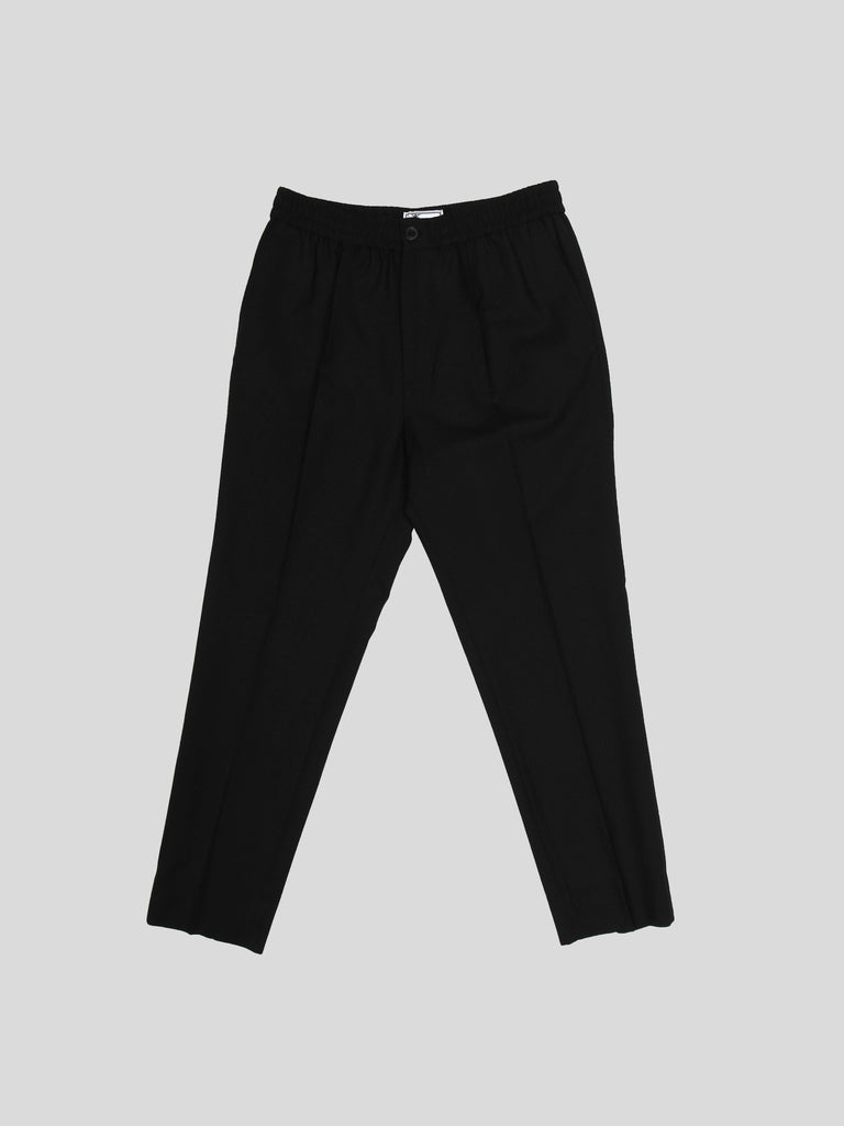 Elasticized Waist Cropped Fit Trousers