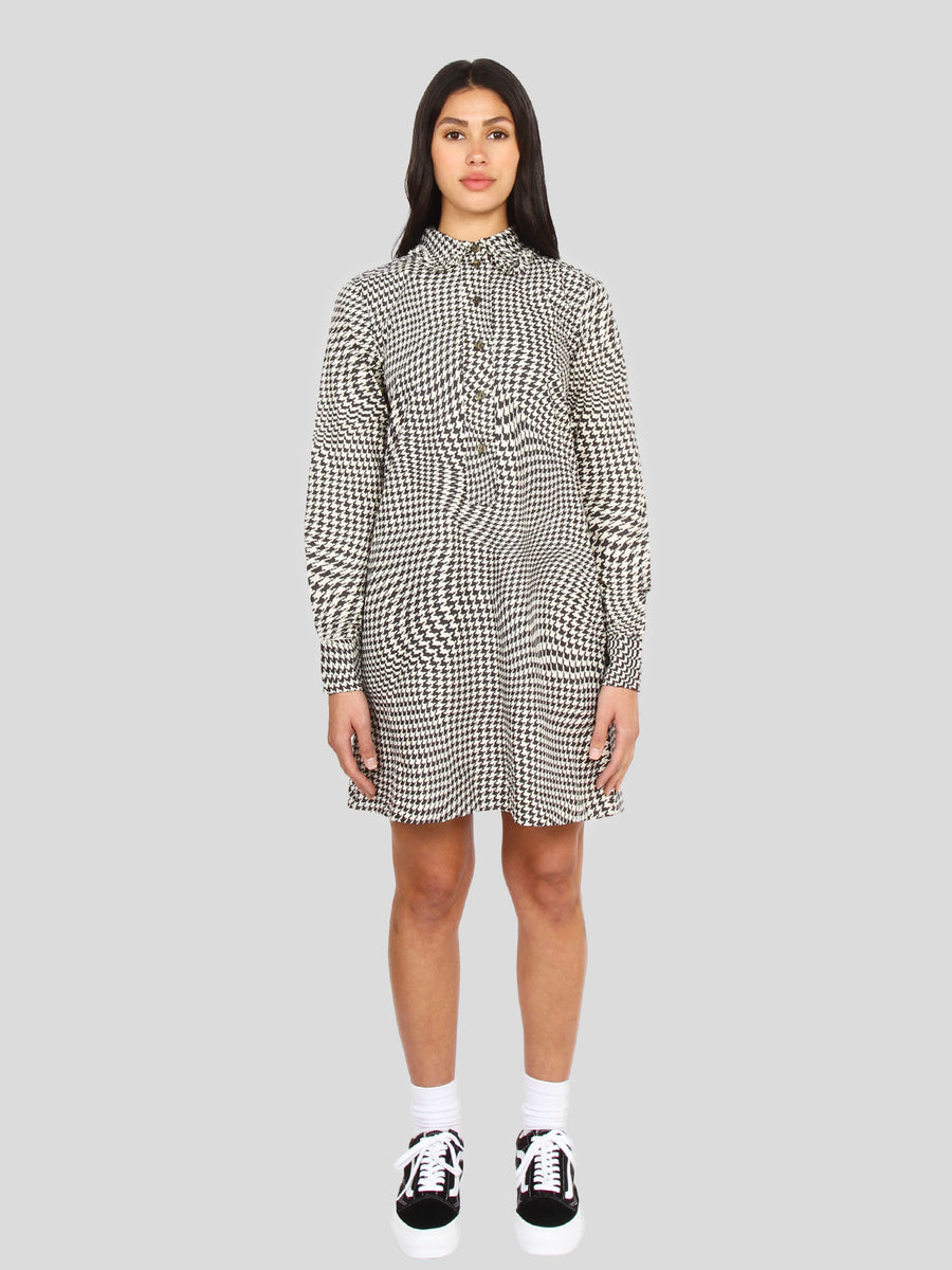 Printed Cotton Poplin Mini Dress