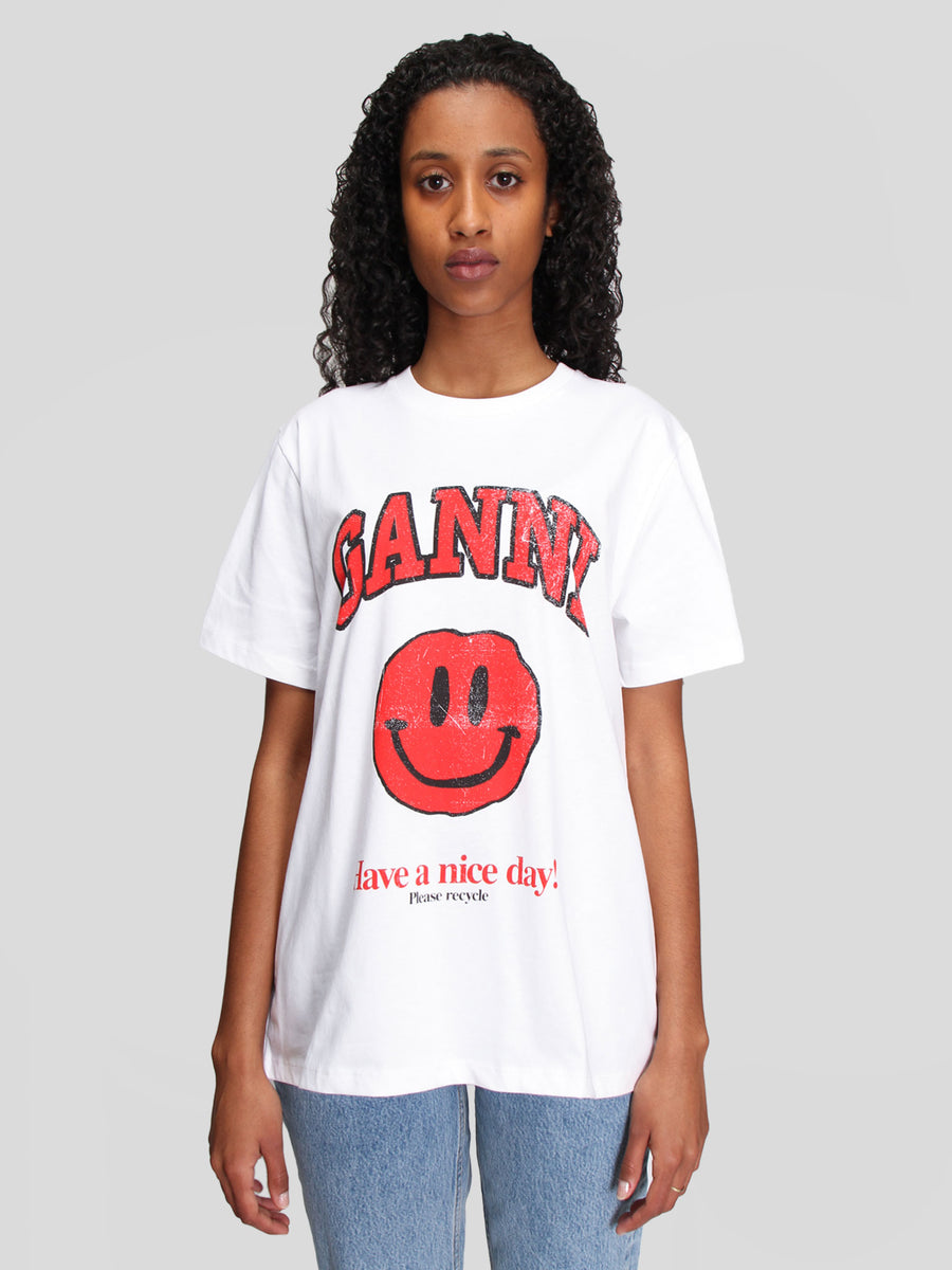 Smiley Basic Cotton Jersey T-Shirt