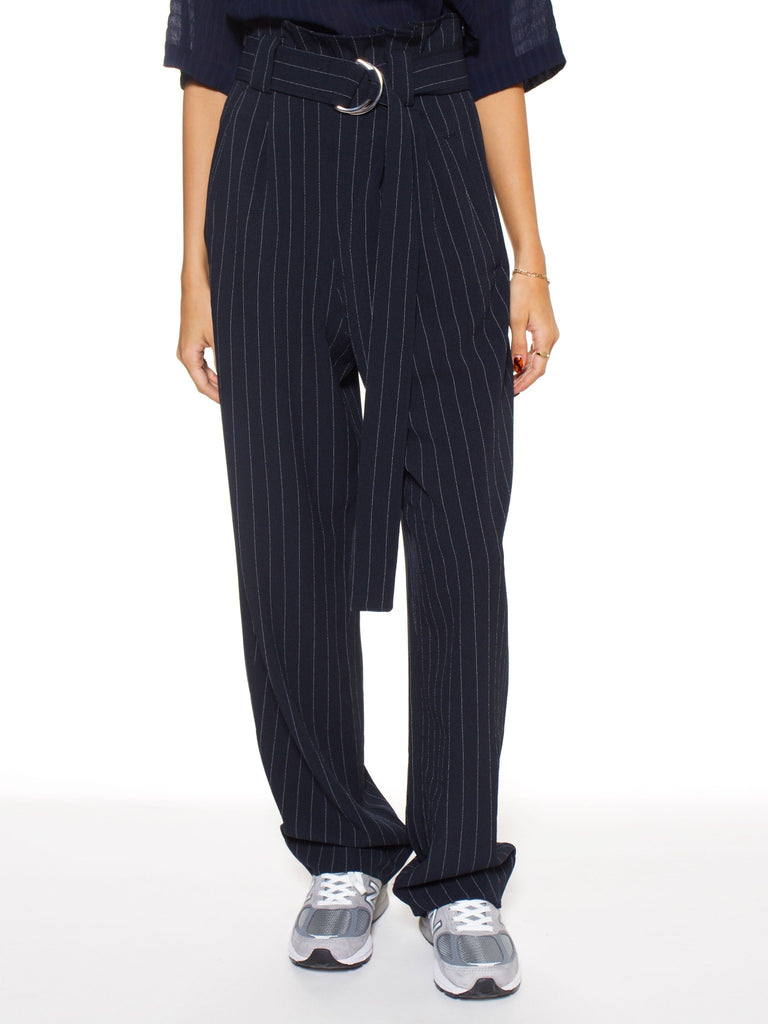Heavy Crepe Belt Pants