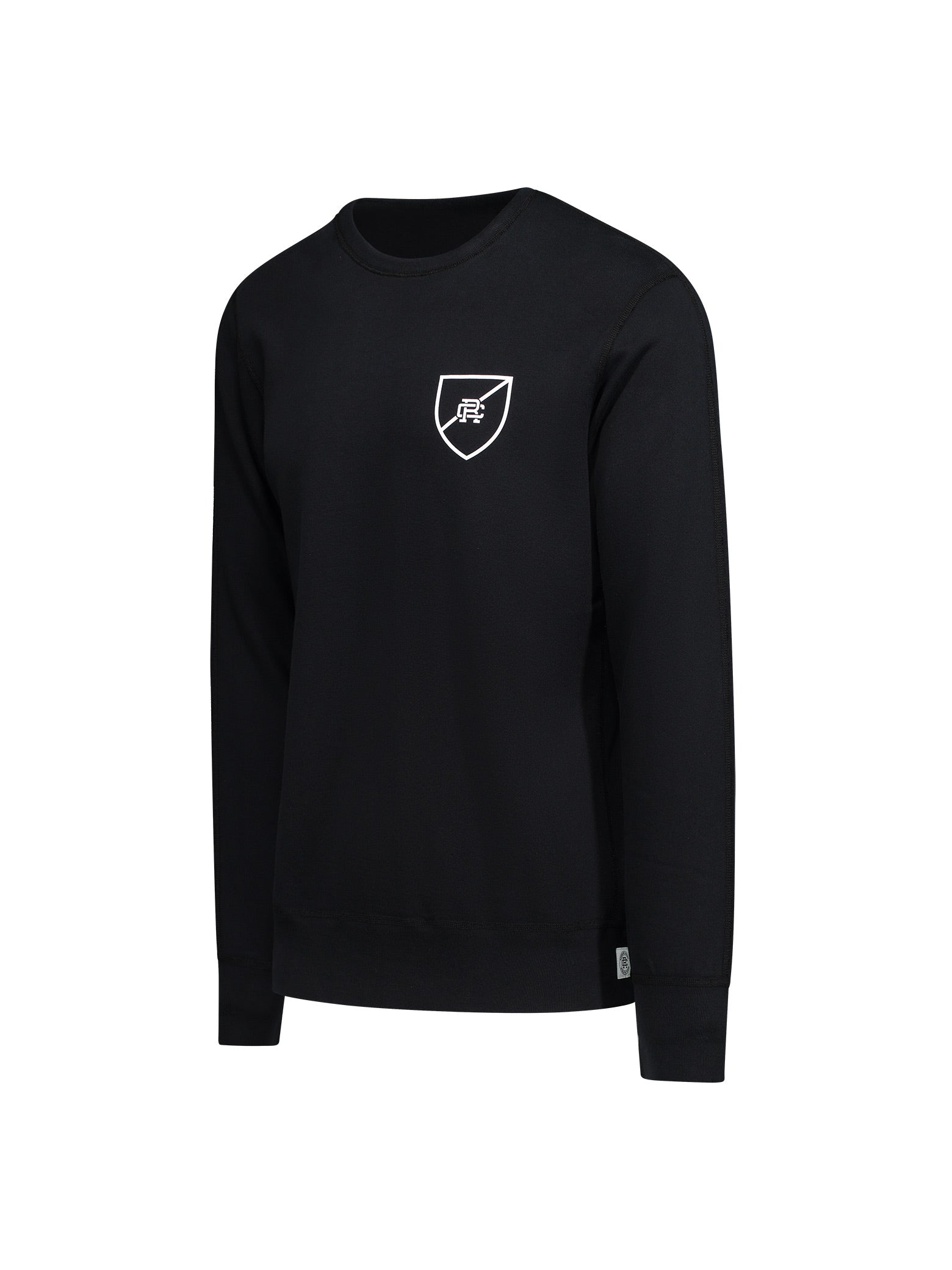 Knit Lightweight Terry Shield Logo Crewneck