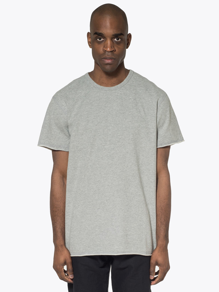 Raw Edge Short Sleeve Crewneck