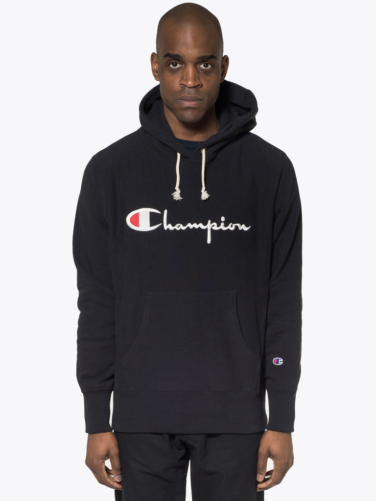 Embroidered Script Logo Hoodie