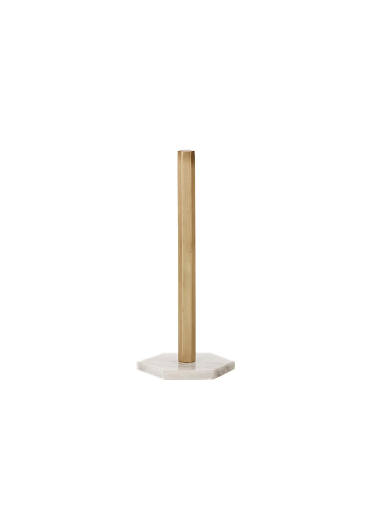Brass Hexagon Paper Towel Stand
