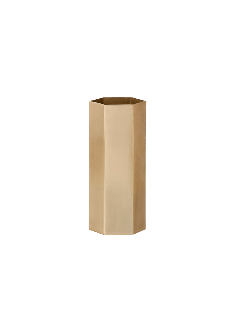Brass Hexagon Vase