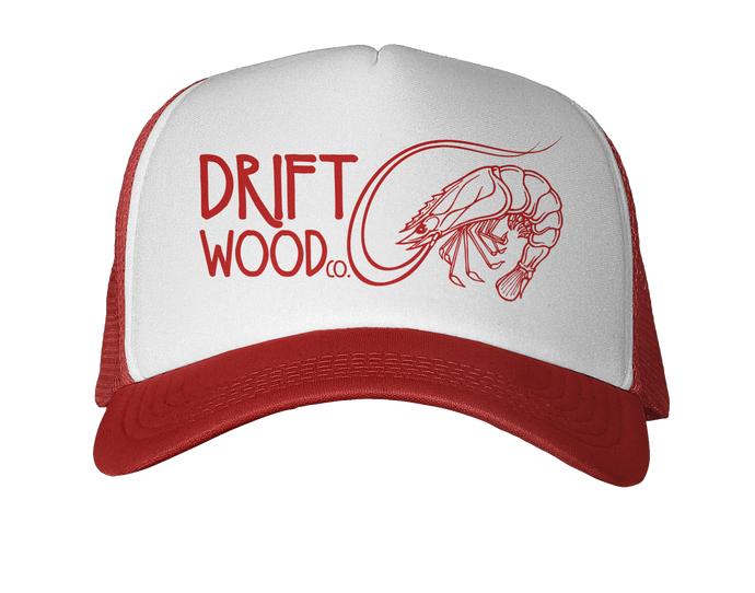 Atlantic White Shrimp Trucker Hat - Red