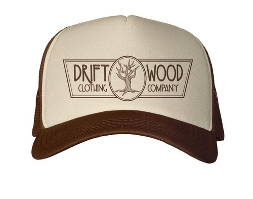 Driftwood Logo Trucker Hat - Brown/Tan