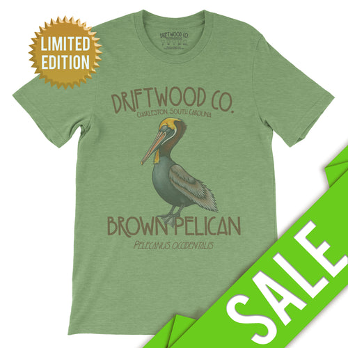 Pelican Tee - LIMITED - Heather Green