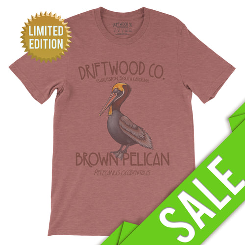 Pelican Tee - LIMITED - Heather Mauve