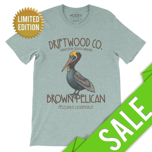 Pelican Tee - LIMITED - Dusty Blue