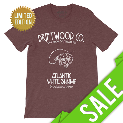 Shrimp Tee - LIMITED - Heather Maroon