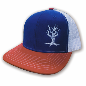 Driftwood Logo Snap-Back Trucker Hat - Red/White/Blue