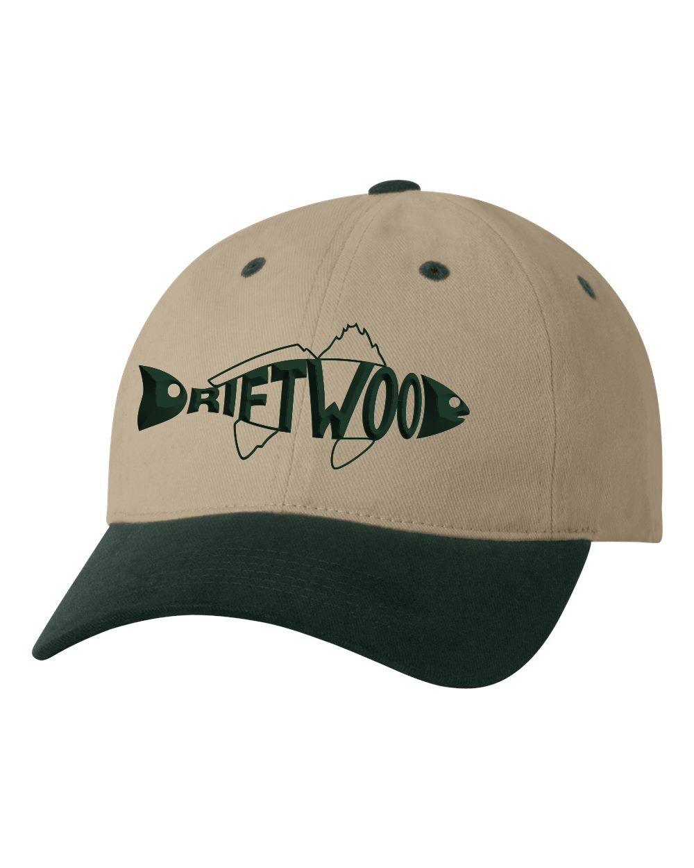 Redfish Dad Hat - Green/Tan