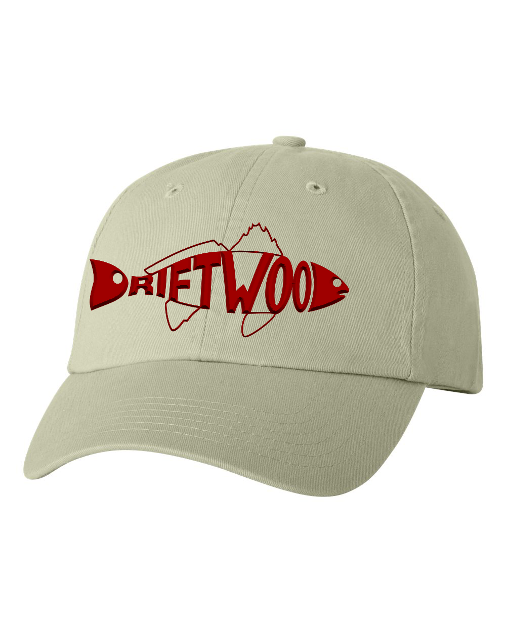 Redfish Dad Hat - Tan/Red