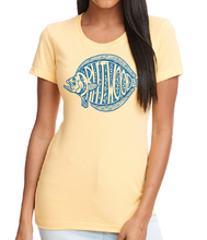Women's Flounder Tee Shirt - Yellow