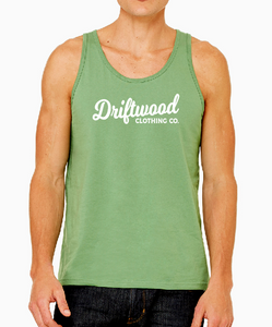 Men's Basic Script Jersey Tank - Leaf