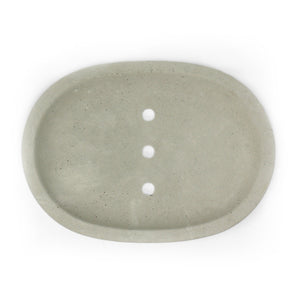 Concrete Soap Dish Oval