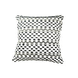 Black and White Tassel Pillow