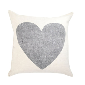 Black Heart Pillow