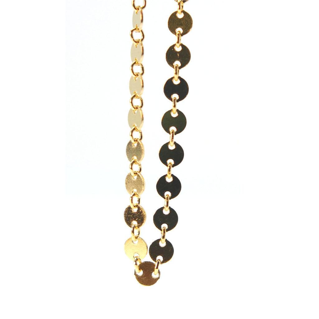 Gold Filled Beaded Cable Chain