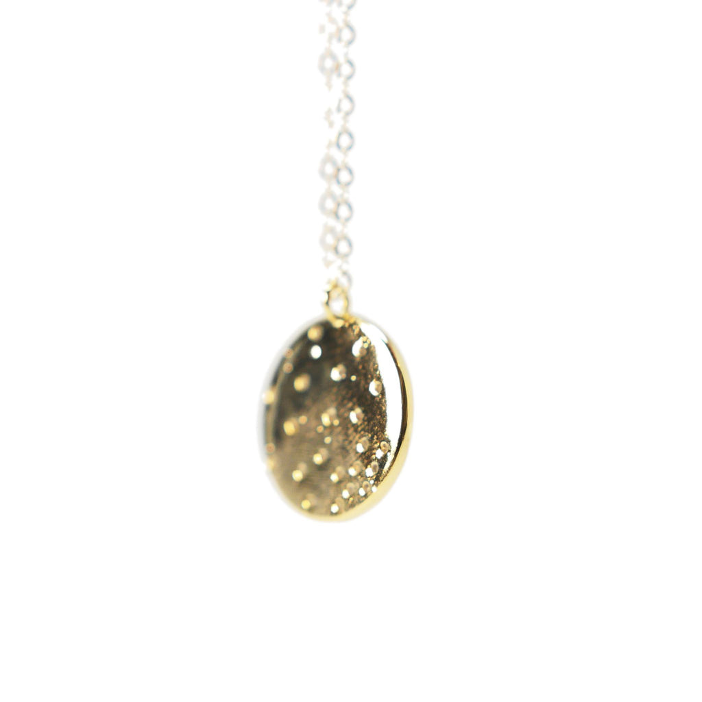 Gold Filled Cubic Zirconia Disc