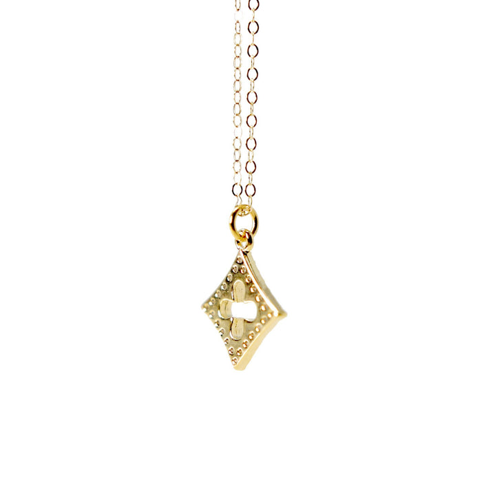 Gold Filled Cubic Zirconia Quatrefoil