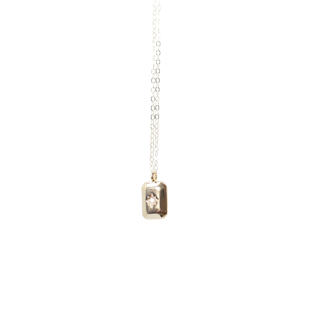 Gold Filled Rectangle Cubic Zirconia