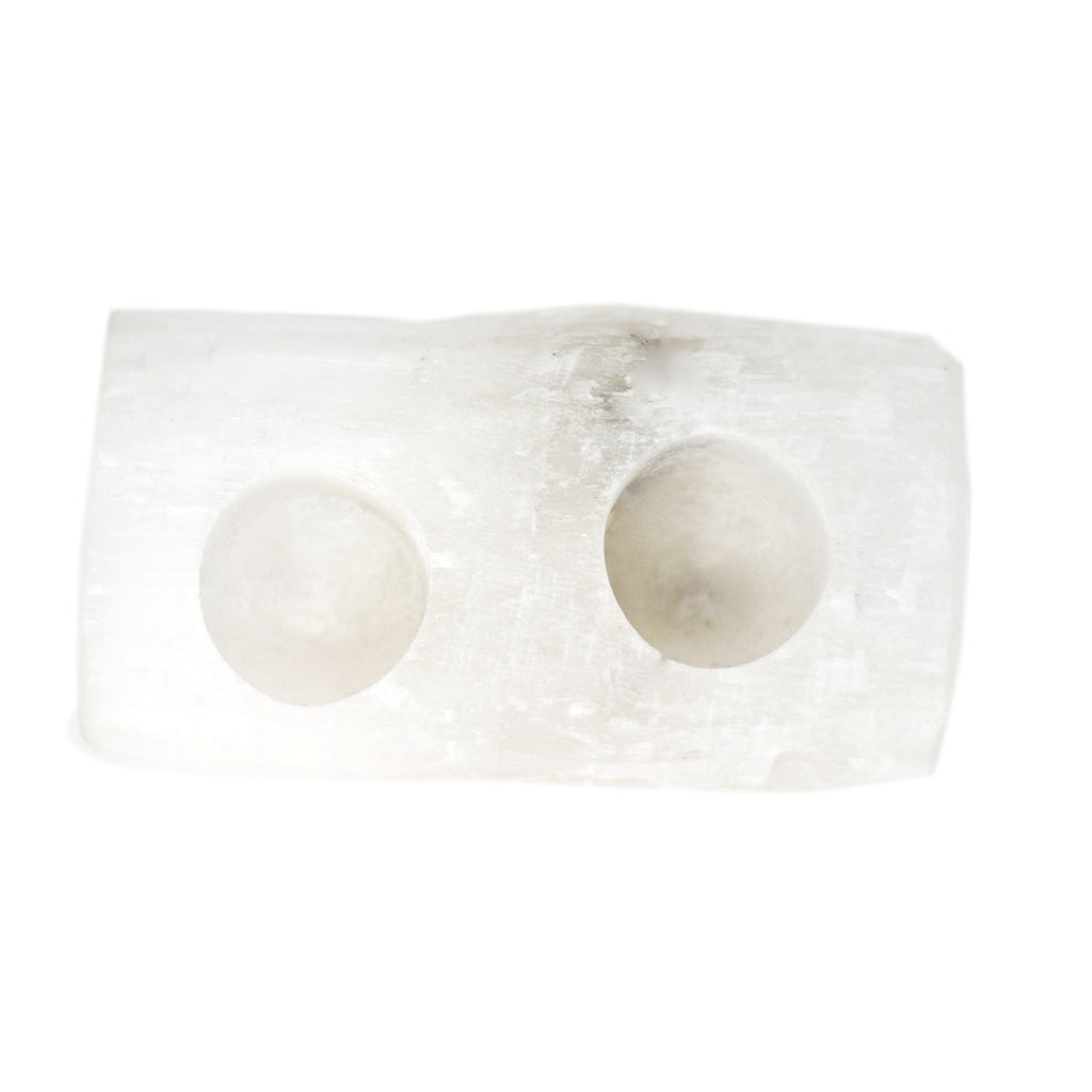 Selenite Candle Holder (2 tea lights)