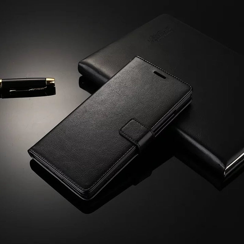 Leather Wallet Phone Case Flip Stand Book