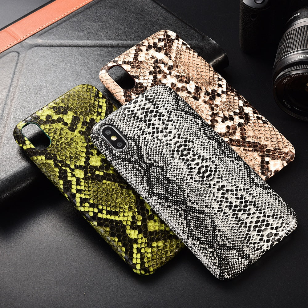 Reptile Leather Protective iPhone Case