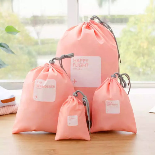Happy Flight Organizing Bags - 4 Piece Set