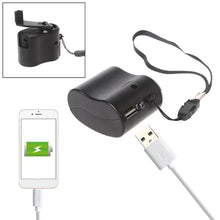 Load image into Gallery viewer, USB Hand Crank Phone Charger