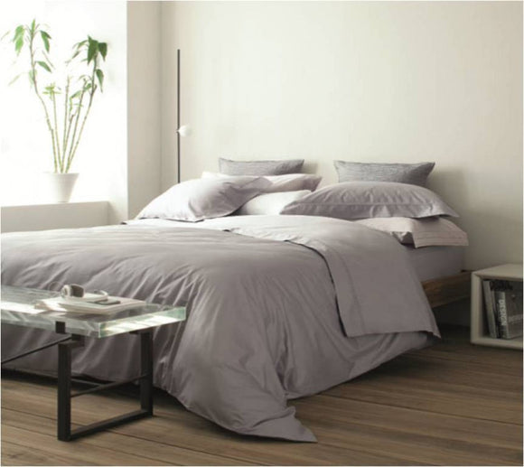 Duvet cover Dallas Gris metal  290 x 260 cm 600 hilos